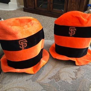San Francisco Giants Dr. Seuss style striped hat